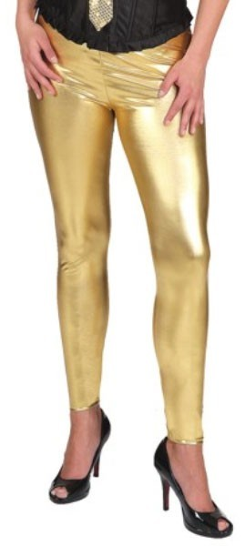 Mila Metallic Leggings Gold