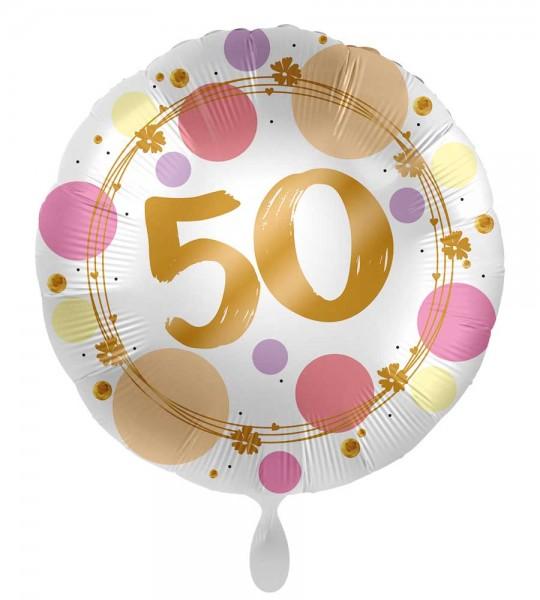 Balon na 50 urodziny Happy Dots 45cm