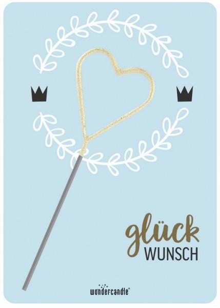 Hellblaue Glückwunsch Wondercard