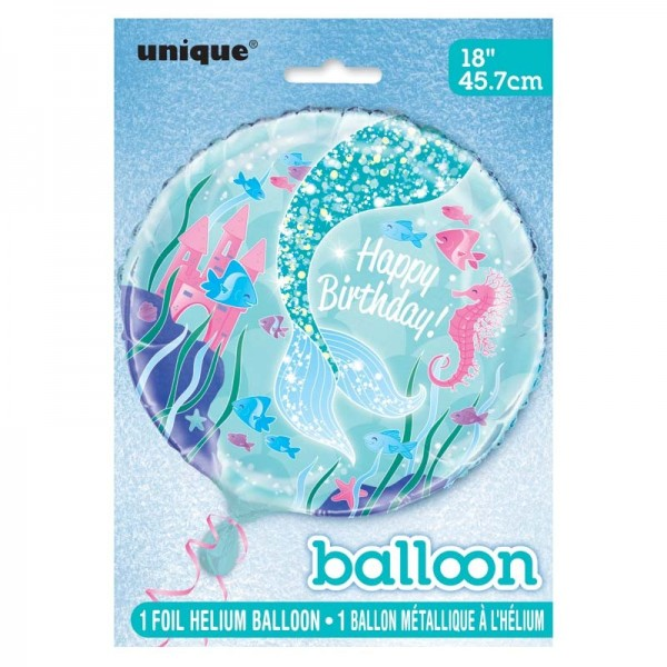 Birthday balloon Magical mermaid Sirena