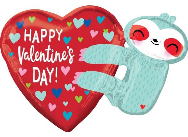 Valentines Day Hugs Folienballon 76 x 53cm