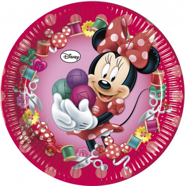 8 papierowych talerzy Minnie Sweet 23 cm