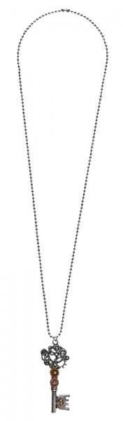 Collar Steampunk con llavero