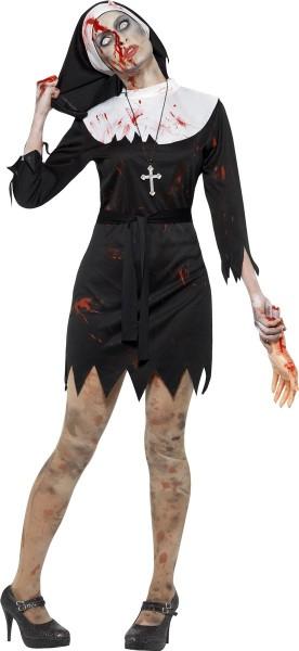Tote Nonne Damenkostüm Schwarz