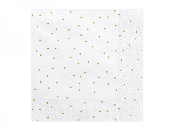 20 Servietten Golden Dots 33cm 1