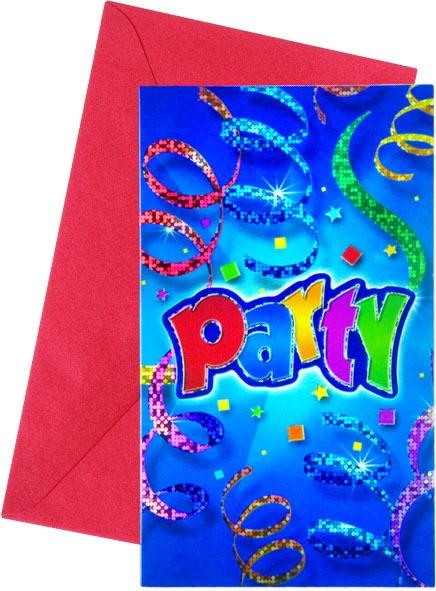 6 Party Universe Einladungskarten