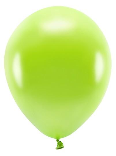100 Eco metallic Ballons hellgrün 26cm