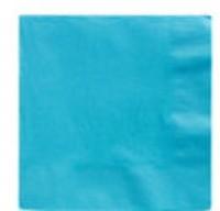 50 Papier-Servietten in Azurblau 25cm