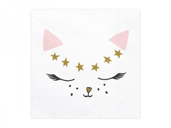 20 servilletas gato Kiki 33cm