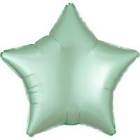Satin Sternballon mint 43cm