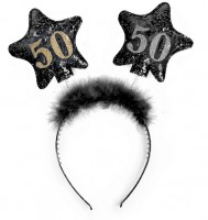 Shiny 50th Birthday Haarreif 13cm
