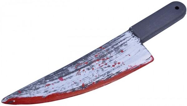 Blutgetränktes Kunststoff Messer