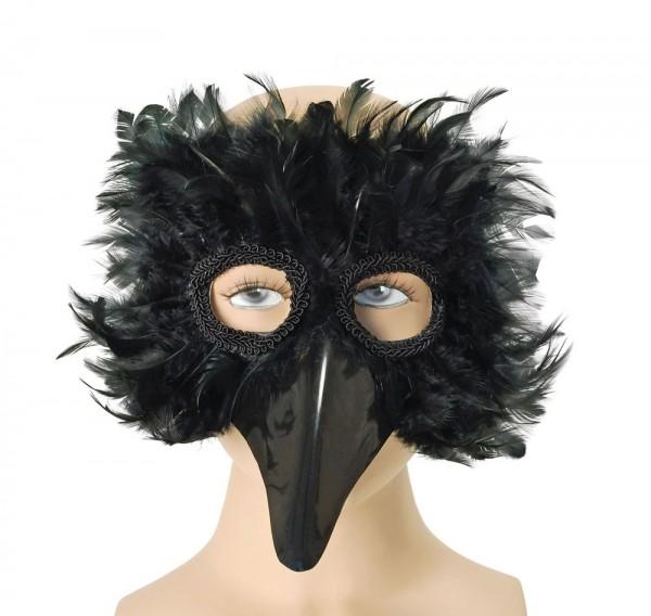 Venezianische Vogelmaske Schwarz