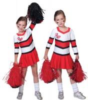 Red Cats Cheerleaderin Kinderkostüm