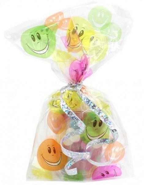 20 kolorowych torebek na prezenty emoji