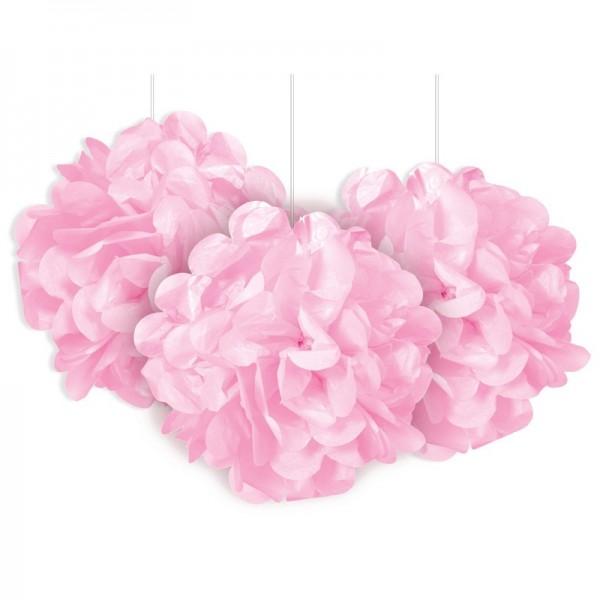 Puszysty pompon różowy 23cm