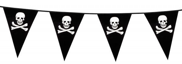 Pirate party skull pennant chain 6m