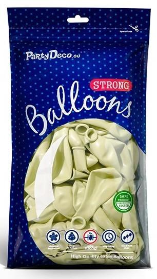 10 Partystar Luftballons creme 30cm
