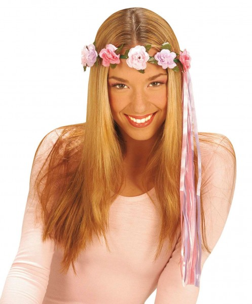 Zoete bloemenkrans met haarbandjes