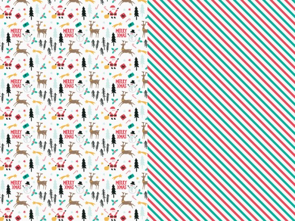 Merry Xmas Wrapping Paper - 2 Sheets