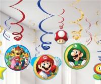12 Super Mario World Spiralhänger 61cm