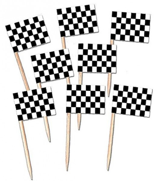 50 Racing Team Party Picker 5cm