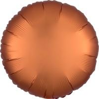 Noble ballon en aluminium satiné ambre 43cm