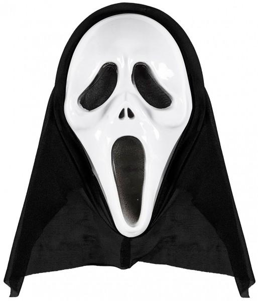 Maska z kapturem krzyczy