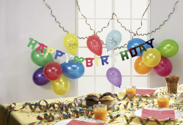 Bunte Happy Birthday Girlande Celebration Day 152cm