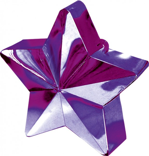 Star Balloon Weight in Purple