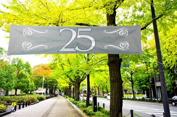 Silver wedding banner 1.8mx 40cm