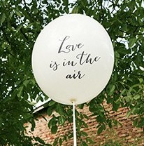 XXL Riesenballon Love is in the air 1m 1