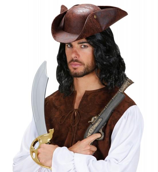 Brauner Seeräuber Piratenhut
