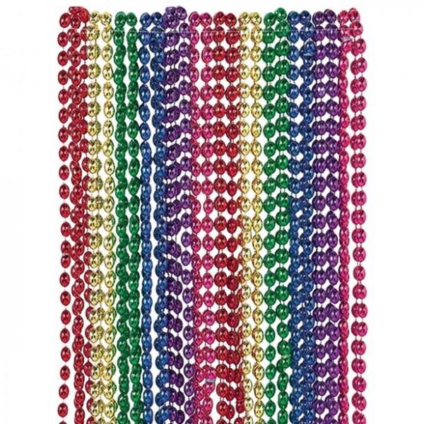 24 collane di perle colorate