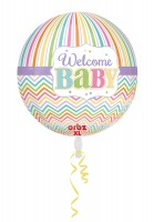 Orbz Ballon Welcome Baby pastell