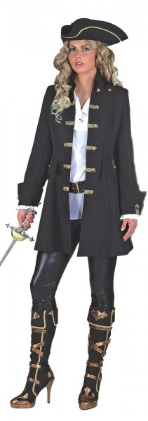 Manteau pirate Mary Read femme noir