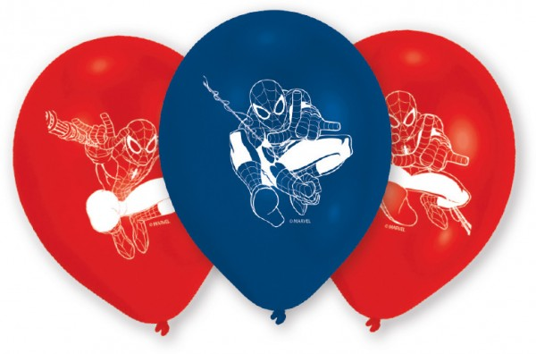 6 Spiderman On A Mission Luftballons 23 cm