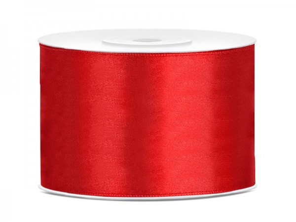 25m satin ribbon red 5cm wide