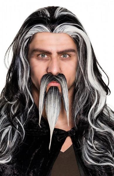 Moustache grise et barbiche Saroumane