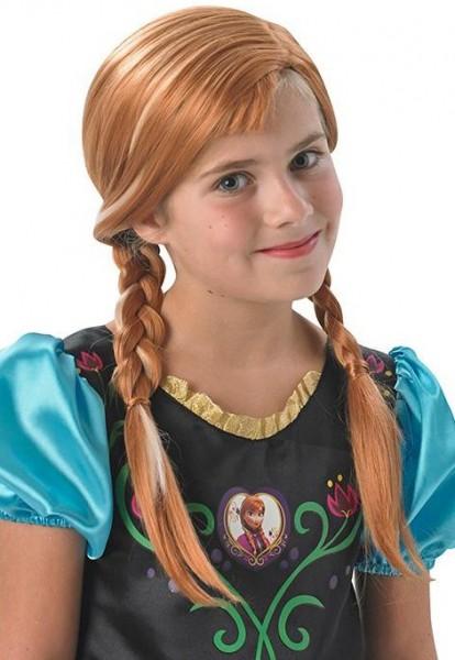 Frozen kinder Anna pruik