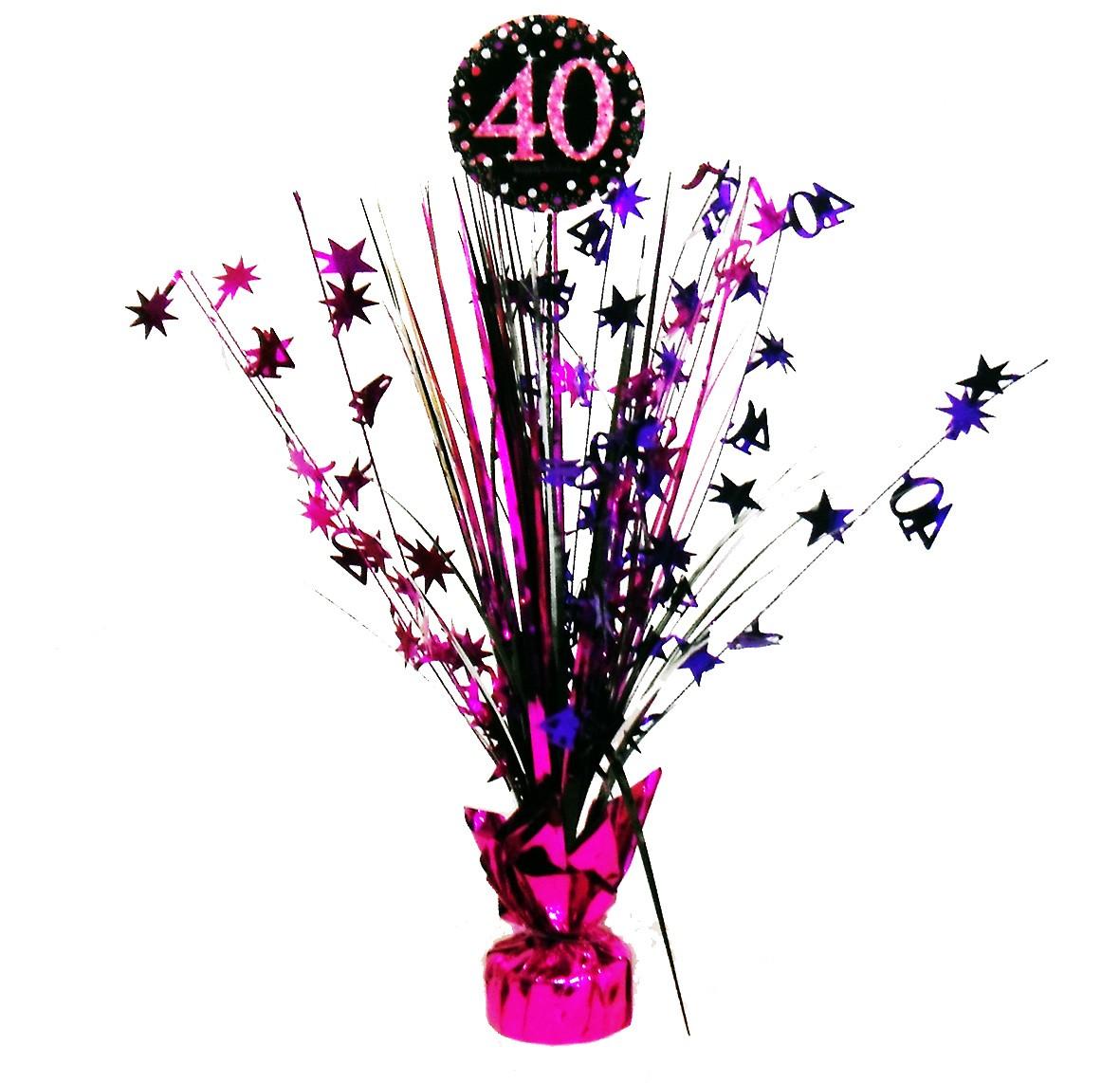 40 Geburtstag Pink Sparkling Tischfontane 46cm Party De