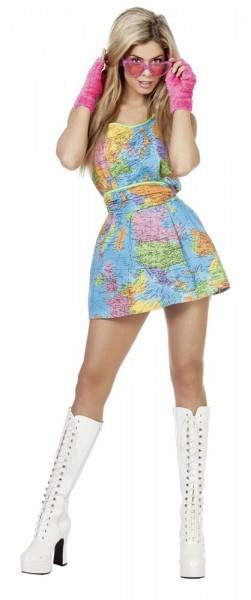 Länderlady Globus Kleid 1