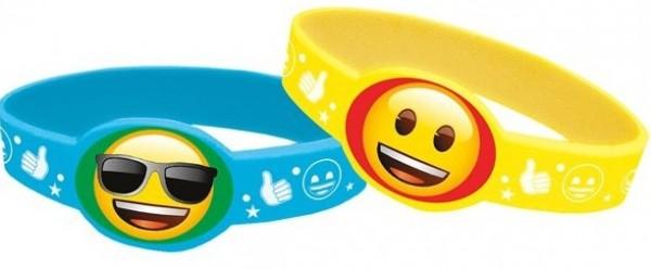 4 Emoji Parade Armbänder