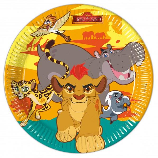 8 Die Garde Der Löwen Safari Life Pappteller 23cm