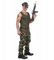 Actionfilm Soldaten Kostüm für Herren