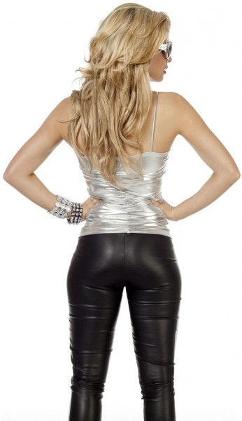 Silver stretch ladies top