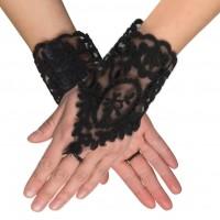 Barock Handschuhe in Samtoptik