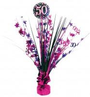 Pink 50th Birthday Tischfontäne 46cm