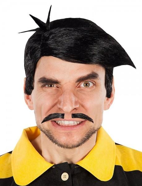 The Daltons Perücke mit Bart für Erwachsene