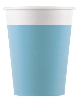 8 FSC paper cups Paganini turquoise 200ml